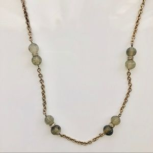 "J CREW : :  GOLD AND LABRADORITE 19"" NECKLACE"